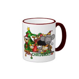Compinches del navidad taza de dos colores