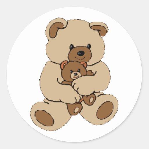 Compinches del oso de peluche etiqueta redonda
