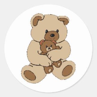 Compinches del oso de peluche pegatina redonda
