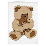 Compinches del oso de peluche tarjeton