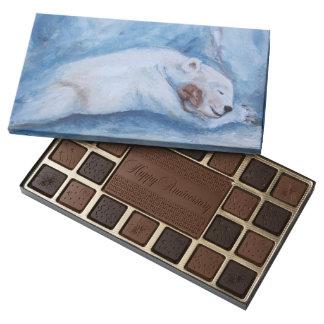 Compinches durmientes oso y ratón caja de bombones variados con 45 piezas