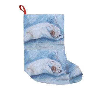 Compinches durmientes oso y ratón calcetín de navidad pequeño