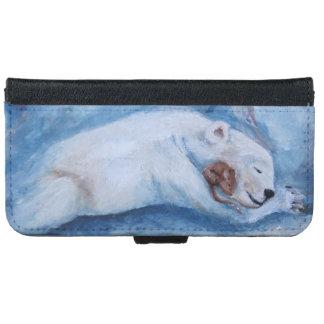 Compinches durmientes oso y ratón funda cartera para iPhone 6