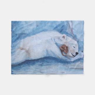 Compinches durmientes oso y ratón manta de forro polar