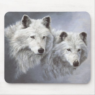 Compinches Mousepad de la nieve del lobo Alfombrilla De Ratón