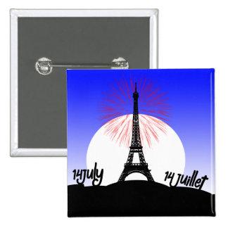 Compita el día de Bastille del De Francia v5 Pins