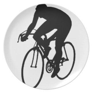 Compitiendo con al ciclista plato de cena