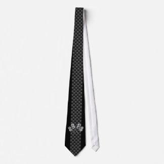 Compitiendo con banderas en fibra de carbono de corbatas personalizadas