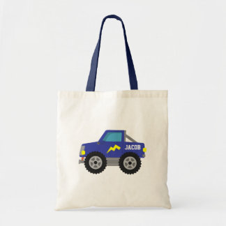 Compitiendo con el monster truck azul, para los bolsa tela barata