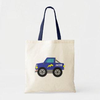 Compitiendo con el monster truck azul, para los bolsa
