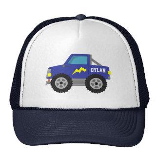 Compitiendo con el monster truck azul, para los gorras de camionero