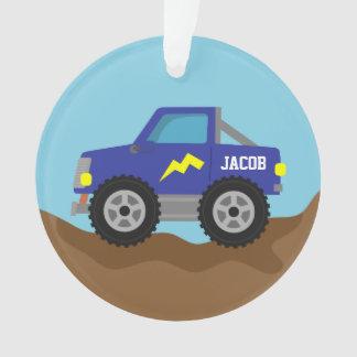 Compitiendo con el monster truck azul, para los mu