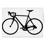 compitiendo con la bici - bicicleta del corredor felicitación