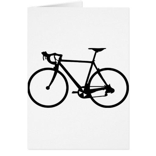 compitiendo con la bici - bicicleta del corredor tarjeta de felicitación
