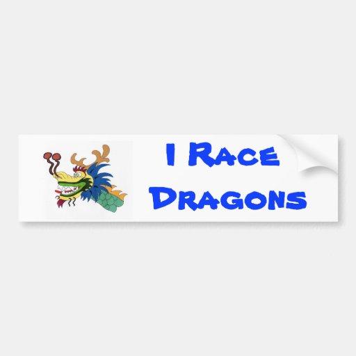 Compito con dragones etiqueta de parachoque