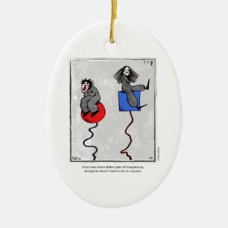 COMPLAINING cartoon by Ellen Elliott Ceramic Ornament