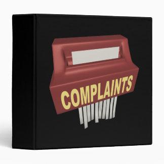 Complaint Box 3 Ring Binder
