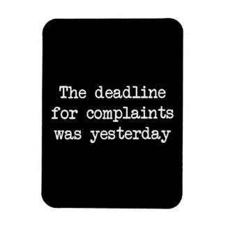 Complaint Deadline Rectangular Photo Magnet