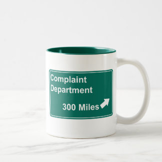 Complaint Department 300 Miles Two-Tone Coffee Mug