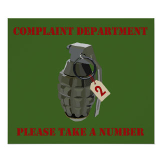 Complaint Department Green Poster