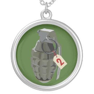 Complaint Department Green Round Pendant Necklace