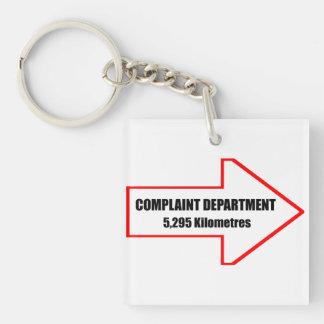Complaint Department Keychain