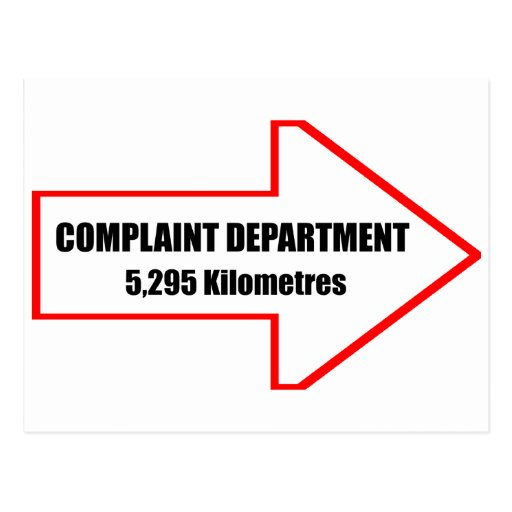 Complaint Department Postcard