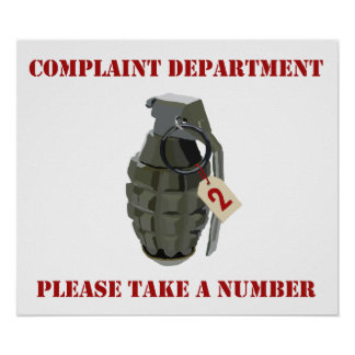 Complaint Department Print