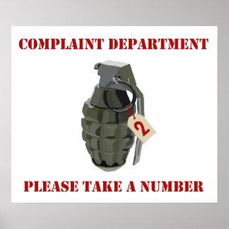 Complaint Department Poster