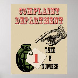 Complaint Department Poster 2