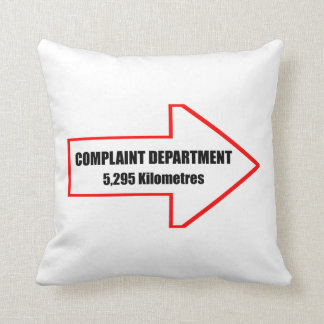 Complaint Department Throw Pillow