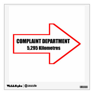 Complaint Department Wall Decal