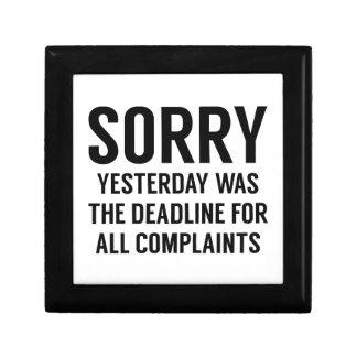 Complaints Deadline Gift Box