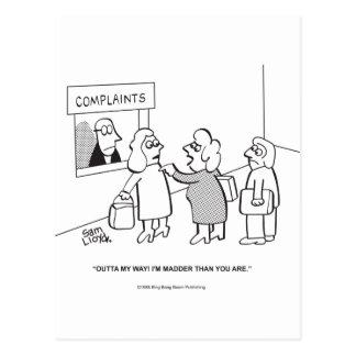 Complaints---Outta My Way! Postcard