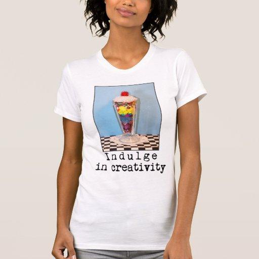 Complazca en fotografía de la creatividad camisetas