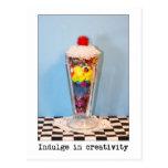 Complazca en fotografía de la creatividad tarjetas postales