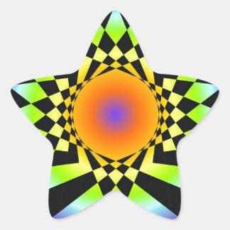 Complejidad simple. Colores de Chakra, geometría Pegatina En Forma De Estrella