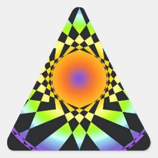 Complejidad simple. Colores de Chakra, geometría Pegatina Triangular