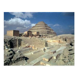 Complejo de Djoser incluyendo la pirámide del paso Postal