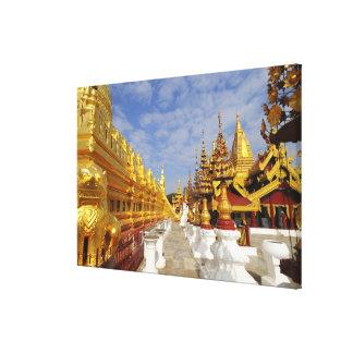 Complejo de la pagoda de Shwezigon en Bagan (Pagan Lona Estirada Galerías