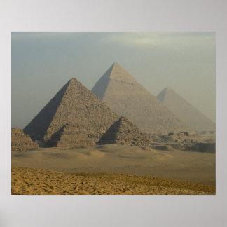 Complejo de las pirámides de Egipto, Giza, Giza, m Póster