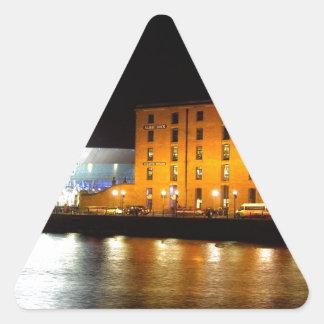 Complejo del muelle de Albert, Liverpool Reino Pegatina Triangular