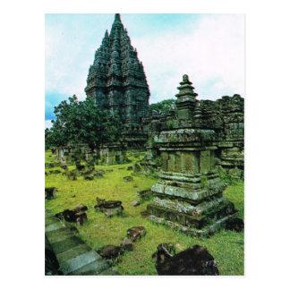 Complejo del templo de Prambanan, Java, Indonesia Tarjeta Postal