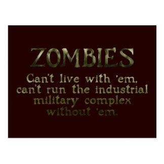 Complejo militar industrial de los zombis tarjeta postal