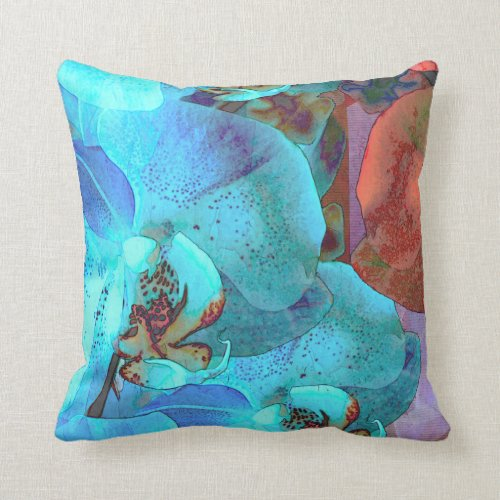 Complementary Blooms Gorgeous Orchids Throw Pillow