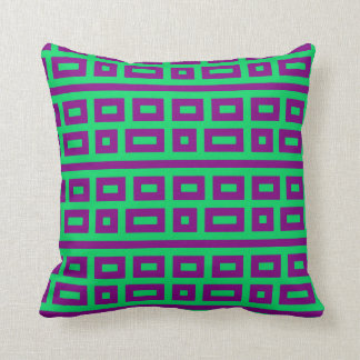 Complementary colors green purple throw pillows