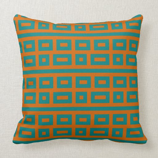 complementary colors teal orange pillows zazzle. Black Bedroom Furniture Sets. Home Design Ideas