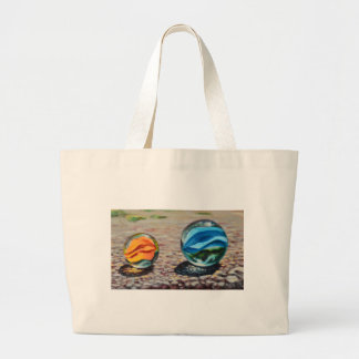 Complementary Marbles Large Tote Bag