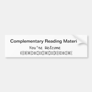 Complementary Reading Material Bumper Stickers