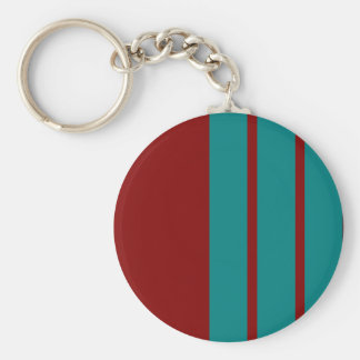 Complementary Two Color Combination / Mix Basic Round Button Keychain